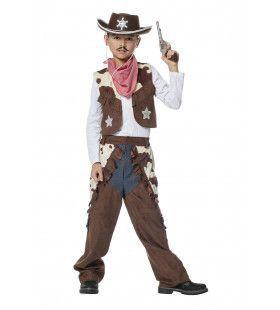 Lonely Cowboy Koeienprint Jongen Kostuum