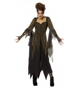 Golden Witch Gerafeld Vrouw Kostuum