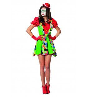 Clown Met Stijl Vrouw Kostuum