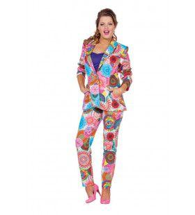 Spirit Flower Colbert Dames Multi Vrouw Kostuum