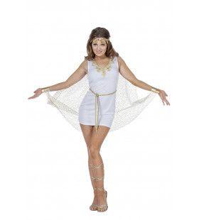 Sexy Romeinse Witte Korte Jurk Vrouw