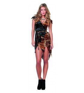Afrikaanse Luipaard Jager Vrouw Kostuum