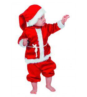 Baby Kerstmannetje Fluweel Kostuum