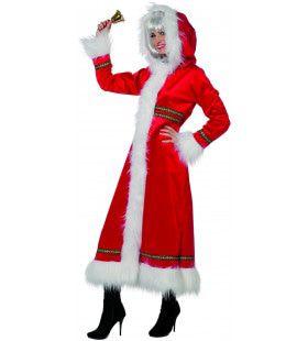 Miss Santa Lekker Warm En Luxe Vrouw Kostuum