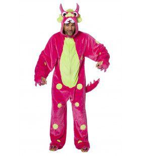 Razend Roze Monster Man Kostuum