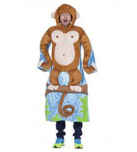 Hilarische Aap In Boom Man Kostuum
