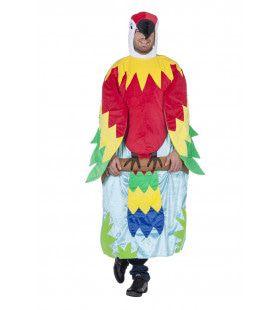Hilarische Papegaai In Boom Man Kostuum