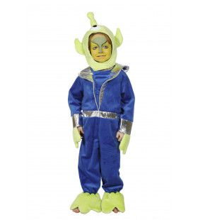 Kleine Groene Alien Jongen Kostuum