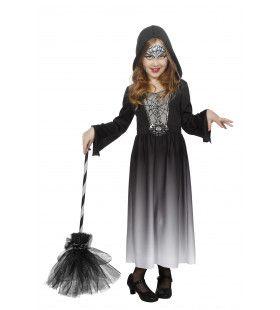 Duistere Halloween Jurk Met Capuchon Meisje