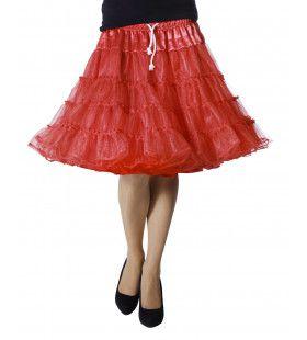 Petticoat Swing Luxe Rood