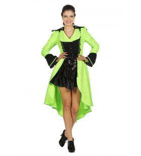 Luxe Jas Livrei Neon Vrouw Kostuum