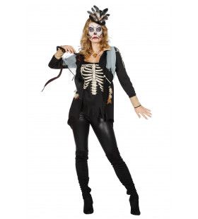 Voodoo Skelet Top Vrouw