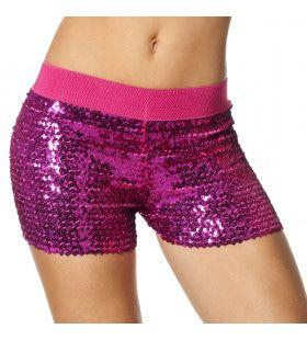 Hotpants Pailletten Roze