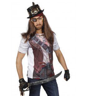 Boekanier Shirt Met Print Piraat Man