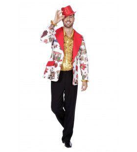 Gezellige Kerstblazer Man Kostuum