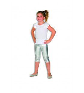 Zilveren Glitter Legging Disco Koningin Meisje