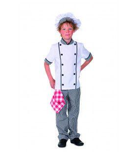Kok Vier Sterren Restaurant Jongen Kostuum