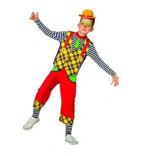 Houten Klaas Clown Jongen Kostuum