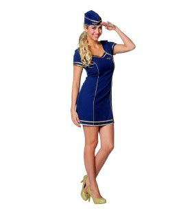 Taxfree Stewardess Sue Vrouw Kostuum