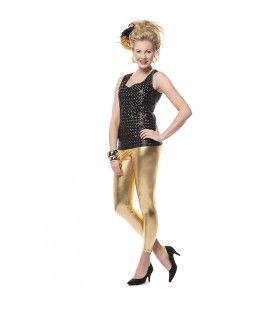 Nauwsluitende Legging Goud Vrouw