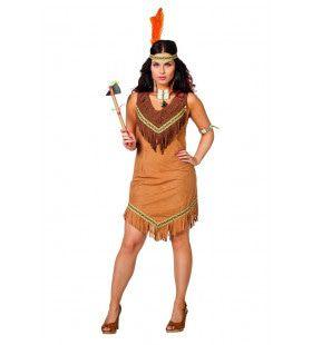 Wabanaki Indiaan New England Vrouw Kostuum