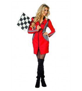 Kus Voor De Winnaar Moto Gp Formule 1 Pitspoes Vrouw Kostuum