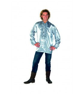 Dolle Disco Ruches Blouse Zilver Man