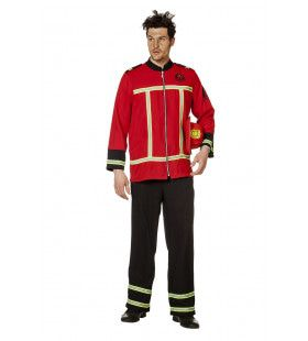 Sjonnie Schroei Brandweer Uniform Man Kostuum