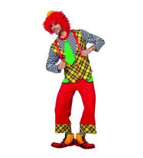 Geinige Clown Circus Diedom Man Kostuum