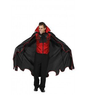 Vampier Met Wijde Vleugels Cape En Vest Man