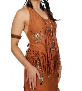 Western Top Kaskaskia Indiaan Bruin Vrouw
