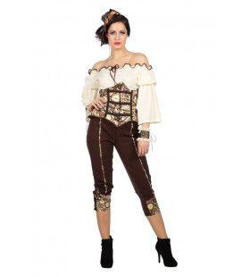 Steampunk Klokken Vrouw Kostuum