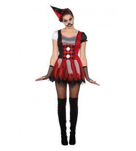 Narrige Nare Clown Vrouw Kostuum