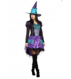 Boze Gehaaide Heks Halloween Vrouw Kostuum