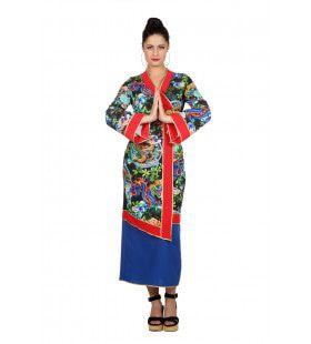 Serene Draak Gesiha Vrouw Kostuum