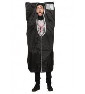 Body Bag Unzip Zombie Man Kostuum