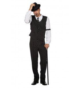 Luigi Calzone Gangster New York Man Kostuum