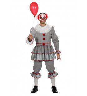 Gruwelijk Grijnzende Clown Halloween Man Kostuum