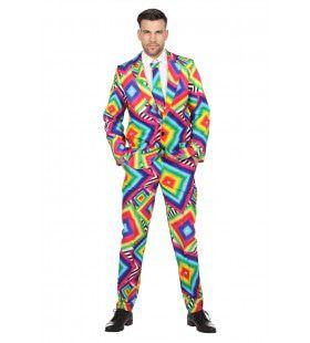Bedwelmend Druk Disco Man Kostuum