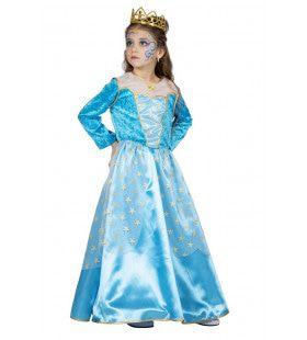 Blauwe Ster Van Het Bal Koninklijke Prinses Meisje Kostuum