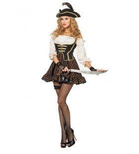 Pirate Bruin Dutch Delight Vrouw Kostuum