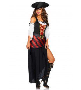 Barbados Beauty Piraat Vrouw Kostuum
