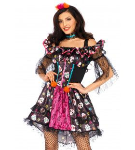 Delicious Day Of The Dead Doll Vrouw Kostuum