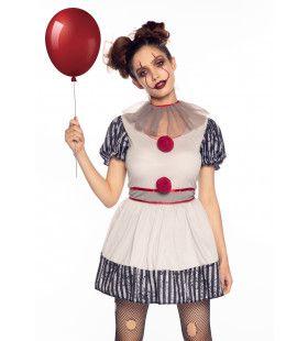 Leuke Maar Niet Zo Vrolijke Creepy Clown Vrouw Kostuum