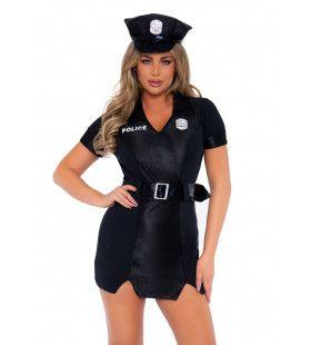 Geen Handboeien Nodig Politie Agente Vrouw Kostuum