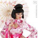 Pruik, Geisha Met Bloem En Chopsticks